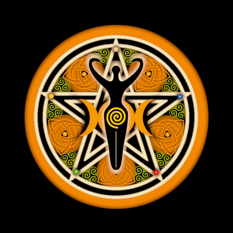 Gold Goddess Pentacle, Celtic And Druids