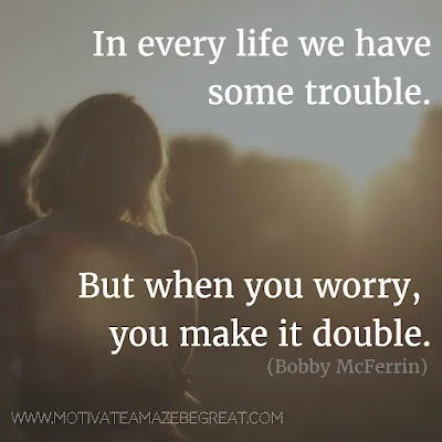 """Featured in our Most Inspirational Song Lines and Lyrics Ever checklist: Bobby McFerrin """"Don't Worry be Happy"""" inspirational song lines."""