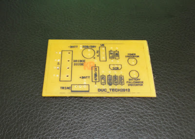 Top View of the PCB Board