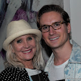 WWW.ENTSIMAGES.COM -   Lena and Oliver Proudlock (Mum and Son)   at  Serge  at DeNimes: Proudlock's Carnival '78 - launch party  Imitate Modern, 27a Devonshire Street, London  April 10th 2013Photo Mobis Photos/OIC 0203 174 1069