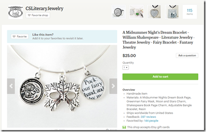 csliterary jewelry