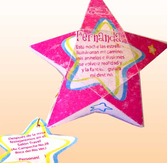 Invitación en estrella