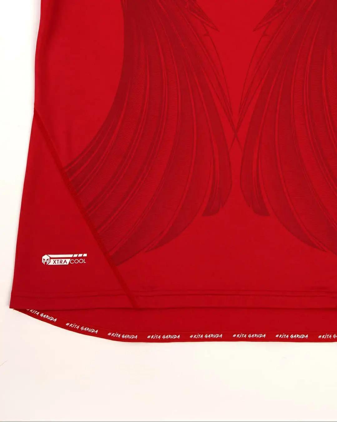detail Jersey timnas Indonesia 2020 x mills