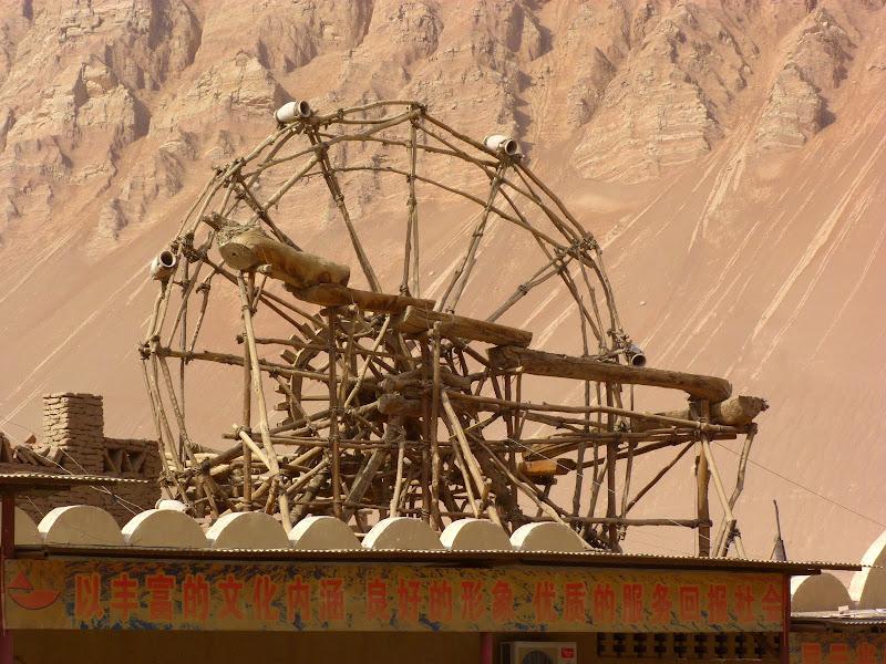XINJIANG.  Turpan. Ancient city of Jiaohe, Flaming Mountains, Karez, Bezelik Thousand Budda caves - P1270931.JPG