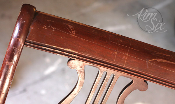 Repairing scratches in chair finish