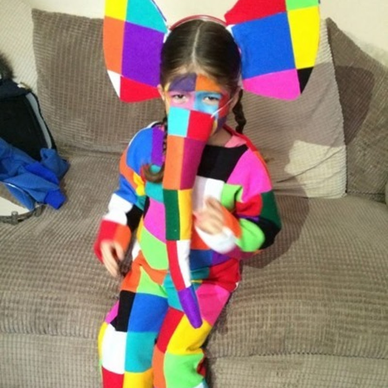 disfraz casero de elmer el elefante