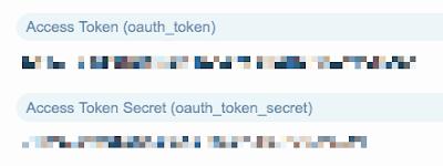 Access TokenとAccess Token Secretの取得