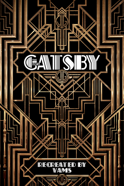 Fuente The Great Gatsby - Deco Pinstripe - tipografia retro vintage, art-deco