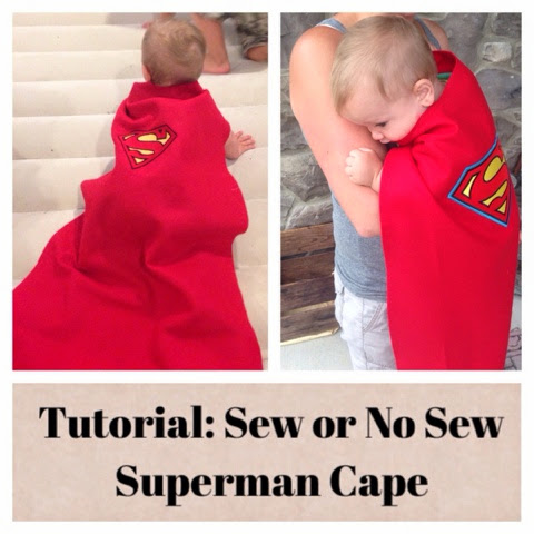 Superman Cape: To Sew or Not to Sew... that is the Question.
