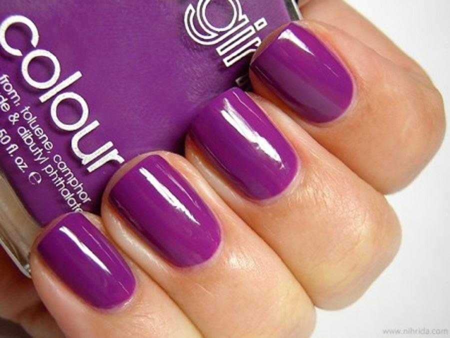 Purple Nail Polish Color