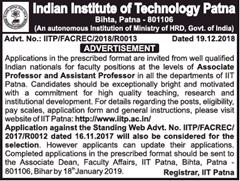 IIT Patna Notification 2019 indgovtjobs