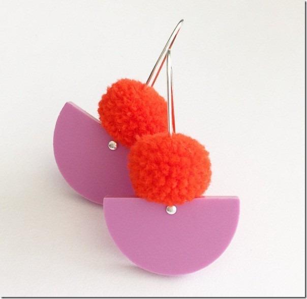 pompon-orecchini