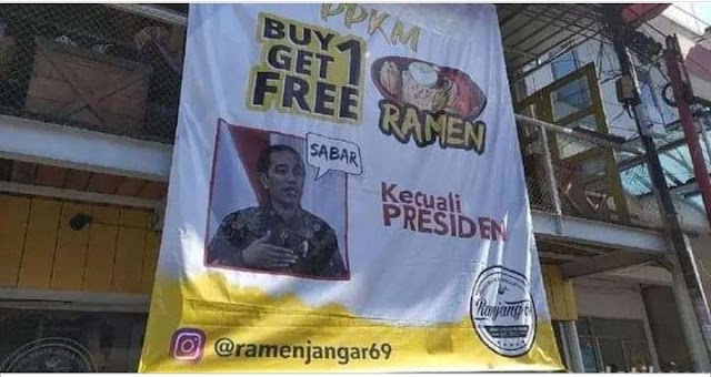 Beli Mie Ramen disini Beli Satu Gratis Satu, Kecuali Presiden