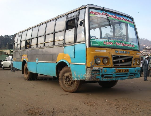 TNSTC bus in ooty