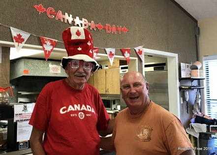 At the Canada Day Party