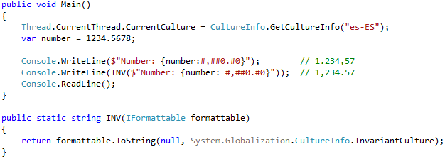 Format using invariant culture