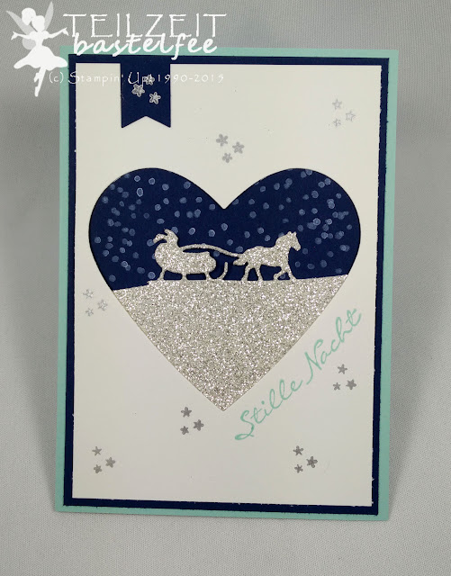 Stampin' Up! - Weihnachten, Christmas, Edgelits Sleighride, Kling Glöckchen, Jingle all the Way, Framelits Heart Collection, Banner