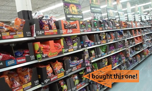where find Hershey Halloween candy at Wal-mart candy isles