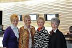 Models ready to take the runway are Elsie Gunter, Shirley Schollmeyer, Karen Boeckman and Emmie Coleman.