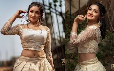 Raveena Daha Beautiful In Bridal Lehenga Photos