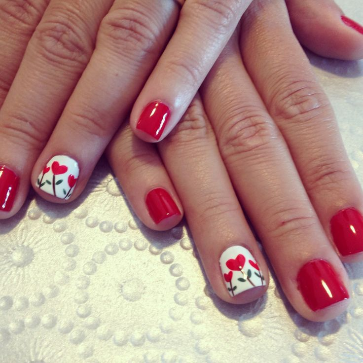 Heart Nail Art: 25+ Amazing Red Gel Nail Art Designs For Valentine's Day