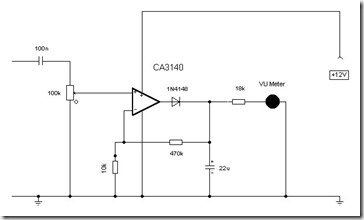 Simple Schematic Peak Audio Meter