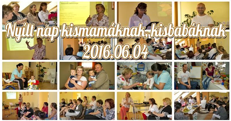 Nyílt nap kismamáknak és kisbabáknak Marcaliban 2016.06.04