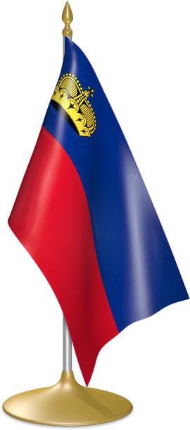 Liechtenstein table flags - desk flags