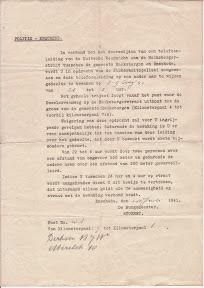 Oproep om deel te nemen aan de kabelwacht in Enschede. Juli 1941.