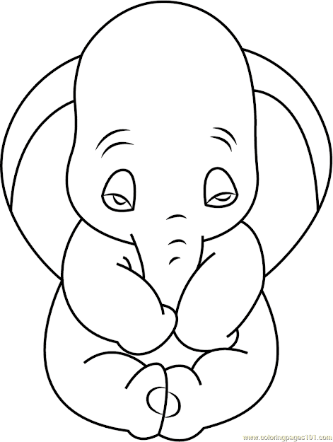 Sad Dumbo Coloring Page Free Dumbo Coloring Pages  Coloringpages