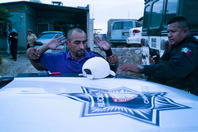A man is arrested by police in Mexico. 11,155 people were murdered in Mexico in the first five months of 2017, according to government statistics. The pace of murders — about one every 20 minutes — represents a 31 percent jump compared with the same period in 2016. Photo: The Wall Street Journal
