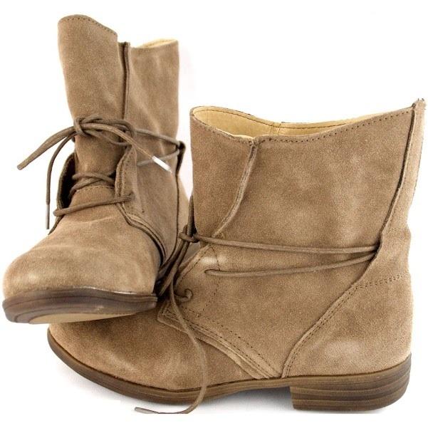 Женские ботинки из натуральной кожи Beige
