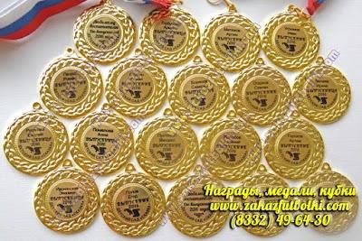 Золотые медали для выпускников