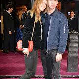 WWW.ENTSIMAGES.COM -   Sara Macdonald and Noel Gallagher   arriving    at The screening of the new Annabel's Docu-Film A String Of Naked Lightbulbs Curzon Cinema,  London October 28th 2014Premiere of documentary about iconic London members club Annabel's, filmed to mark its 50th anniversary. The film celebrates the legacy of founder Mark Birley, and founder members.                                                Photo Mobis Photos/OIC 0203 174 1069