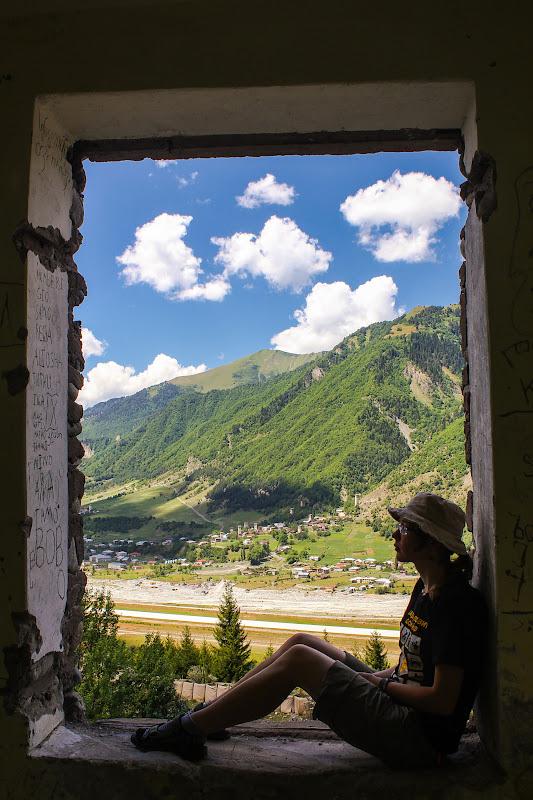 Вид с дома в альплагере