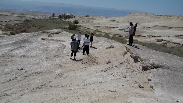 קבוצת אוהבי ישראל מקוריאה בבית חגלה על פני יריחו