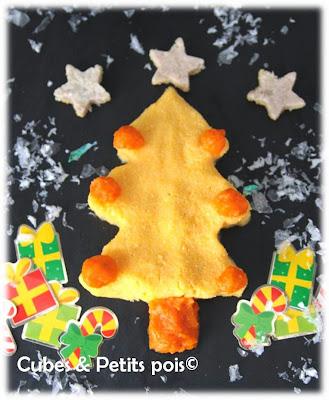 recette pour bébé de Noël menu sapin
