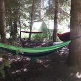The Hammock Boys slept here: Ben Be, Connor D, and Matt