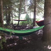 The Hammock Boys slept here: Ben Be, Connor D, and Matt