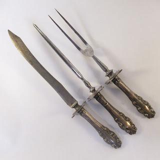 Sterling Silver Handled Carving Set