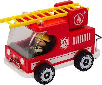 Hình ảnh Đồ chơi Xe cứu hỏa bằng gỗ Hape Fire Truck