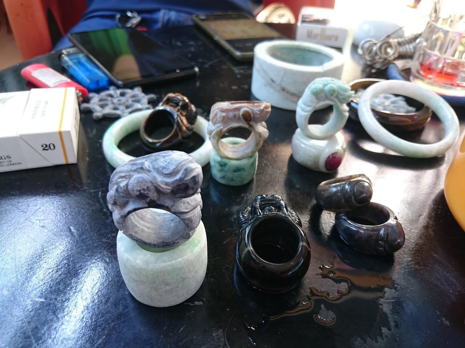 Nhẫn Càn Long, chuỗi hạt, lu thống bằng đá quý Ruby, Ngọc Myanmar, Sapphire tự nhiên 100%