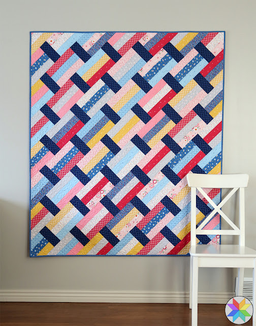 Modern strip quilt pattern called Fast Track - by Andy of A Bright Corner perfect for using precuts