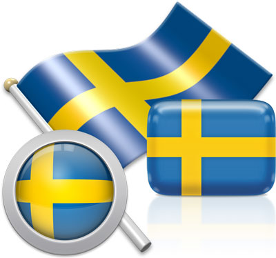 Swedish flag icons pictures collection