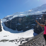 esther at Abbot Pass lookout point in Lake Louise, Alberta, Canada
