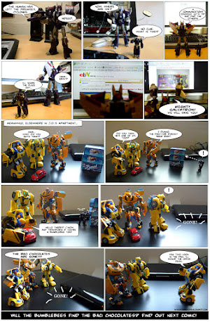 meet cyclonus and the bumblebees - my toys are alive 01 comic