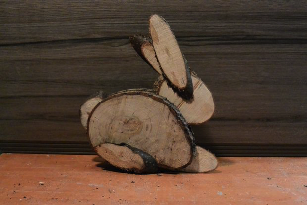 log slice bunny