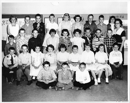 Class of 1968 in 4th grade Mrs Tidrick 1959-1960