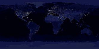 Η Γη τη νύχτα, σύνθεση εικόνων