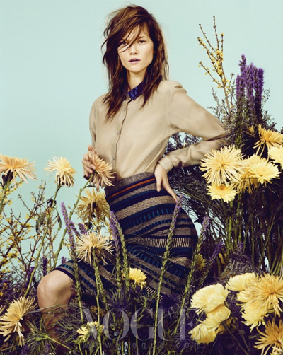 Safari Flower - Vogue Corea - febrero 2012